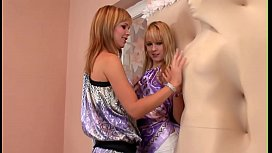 Relax in a company of 2 charming and naughty teen babes