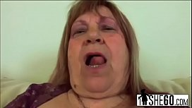 Chubby Granny Dominika Plays With Pussy And Makes Young Man Cumer-tits-hi-2