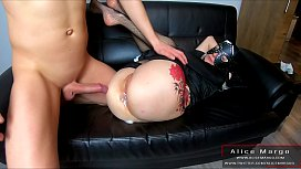 Tattoed Nun and My Big Cock Cum on Her AssHole! Anal Sex! AliceMargo.com