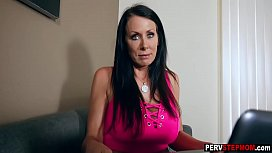 Cool MILF stepmom played with a perv stepsons big dick