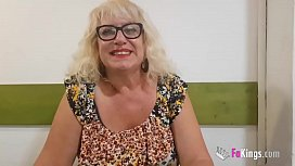 """63 years old and tasting her first black dick. Busty GILF Fina and her """"little bucket list"""""""