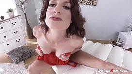 hot skinny mom masturbating on vr cam