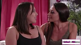 Lesbian babe licks fiancee and her exgf