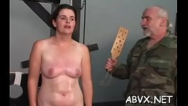 Naughty non-professional video with girl enduring wet crack stimulation