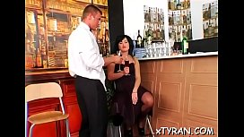Guy gets walked around on a chain in some sexy femdom action