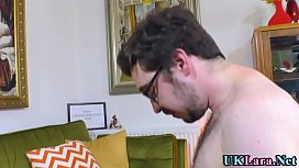 Mature brit gets pounded and mouth spermed
