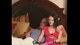 Daughter Watches Porn With Dad - Watch More Free Porn On GroupSexHubcom