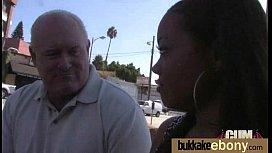 Gorgeous ebony lady sucks white dicks and gangbang fucking 20