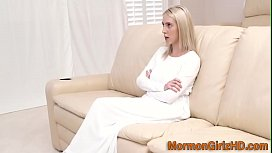 Blonde missionary pounded