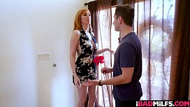 Step mom Lauren Phillips ride her milf pussy on top Brad Knights cock!