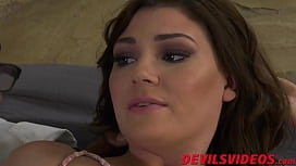 Big dicked black guy plows his stepdaughter hard and fast