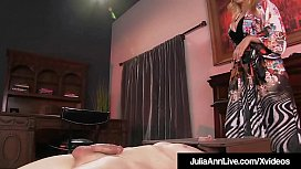 Cock Hungry Cougar Julia Ann Rides Boy Toy'_s Face!