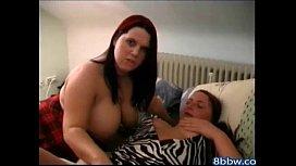 2 Horny Plumper BBW Lesbians Love to Rub Their Pussies - 8bbw.com