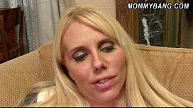 Karen Fisher and Molly Bennett threesome in the living room