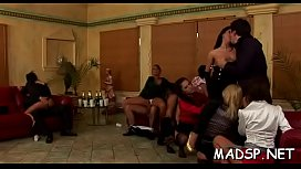 Sex party full of babes