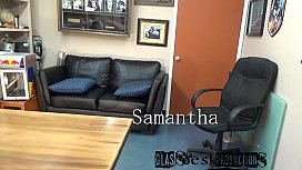 &bull_ Samantha was homeless in San Diego looking for jobs and i gave her one big one, GlassDeskProductions