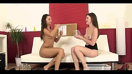 Alluring beauties like pissing in the process of pussy toying