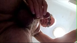 Underneath cum shot