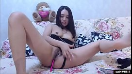 Asian Korean slut crazy masturbation and anal on webcam