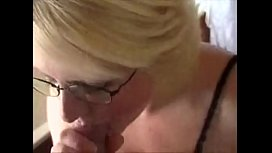 Amateur WIFE sucks young dick