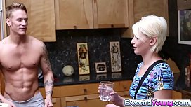 Dani Desire gets a hot creampie in her tiny pussy