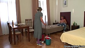 He fuck cleaning mature woman after hangover
