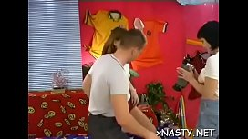 Racy Heidi with curvy natural tits gets tang filled