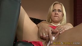 KindAFamily step mom and daughter give blowjob to stepson