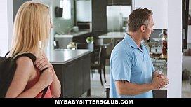 MyBabySittersClub - Caught the Babysitter (Zoe Parker) Touching My Cock