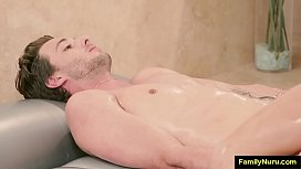 Asian erotic oil massage