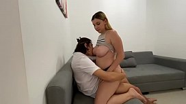 Playing with my step sister turns into hot fucking