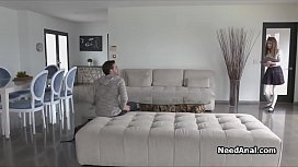 Skipping hairy pussy for tight teen ass
