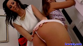 Mature couples threeway with bootyful teen