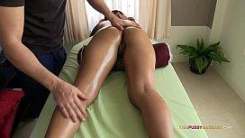 Smooth silky Thai skin massaged by pervert masseur