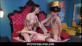 Two Big Tits Teen Step Sisters Pity Fuck Young Nerdy Family Step Brother While In VR Goggles
