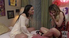 Georgia Jones and Kristen Scott trying lesbian sex - Girlfriends Films