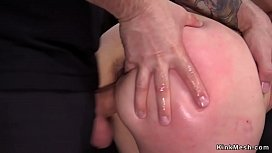 Master coach anal fucks tied up babe