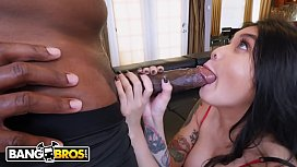 BANGBROS - Small Asian Teen Brenna Sparks Rides Mandingo'_s Big Black Cock