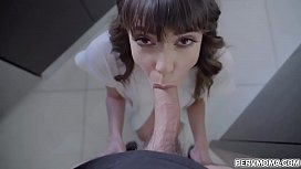 Vera King inspecting her stepsons cock using her hand and mouth and giving him a sensual blowjob