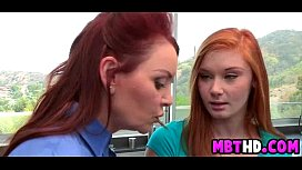 Redhead mother and daugther get cock together  3  001