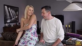 DADDY4K. Sleeping boy misses sex of beautiful girlfriend and his dad