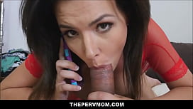 Lucky Step s. Fucks His Hot Big Tits MILF Step Mom Danica Dillon While She Talks To His Dad On Cell Phone POV