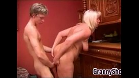 Blonde Granny Wants A Handsome Student
