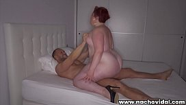 Sexy redhead Amor, a big beautiful woman and a MILF loves anal sex. She  intensely sucks dick ass-to-mouth