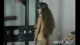 Sweet hotty enjoys private moments of amateur bondage