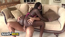 BANGBROS - Big Booty Black Babe Tatiyana Foxx Taking White Cock From Rocco Reed