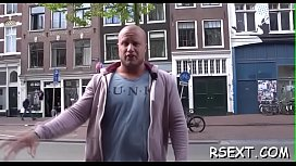 Concupiscent old guy gets it on in the amsterdam redlight district