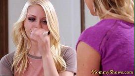 Lesbo stepmom enjoys oral before scissoring