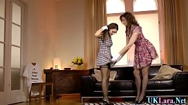 Heeled lesbian fingering