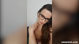 Skinny Amateur with Glasses and a Hairy Pussy